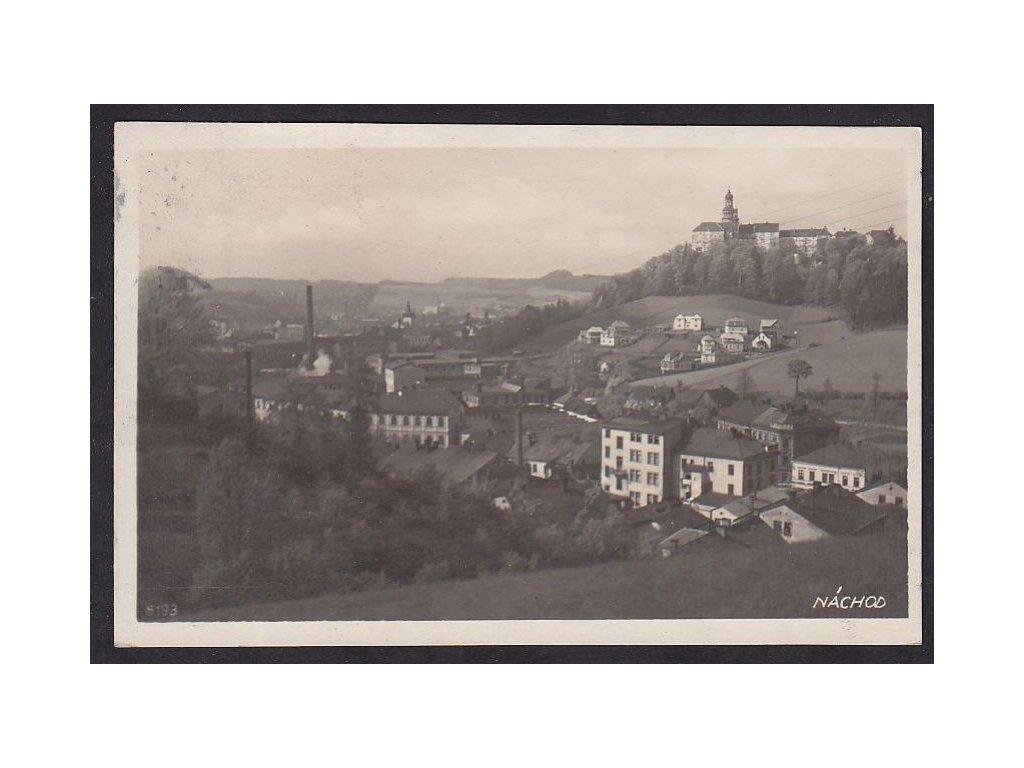 38- Náchod, pohled na pivovar, Bromografia, ca 1932