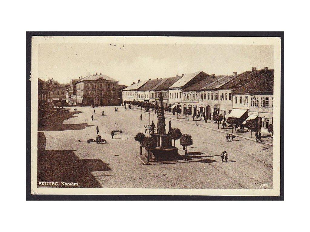 10- Chrudimsko, Skuteč, náměstí, ca 1936