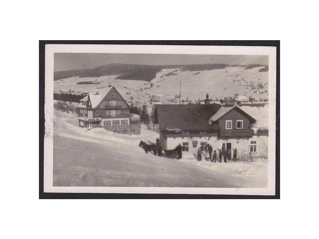 70 - Ústeckoorlicko, Orlické hory, Štemberkova horská bouda Panoráma, cca 1931