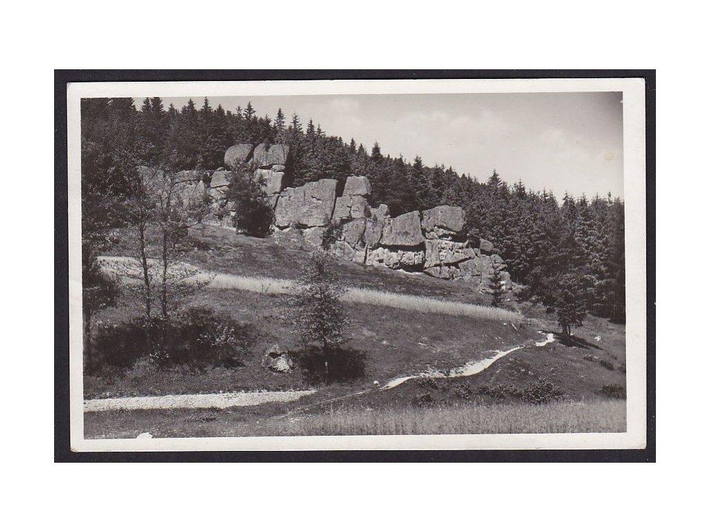 73- Zlínsko, Čertovy sklály u Valašských Kloubouk, Grafo Čuda, ca 1940