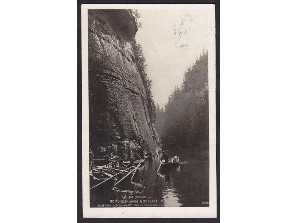 14- České Švýcarsko, Edmundova soutěska, ca 1929