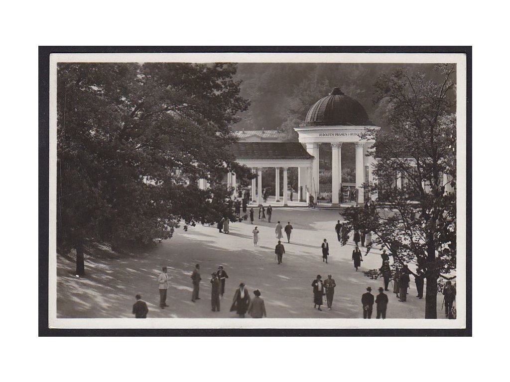 08- Chebsko, Mariánské Lázně, Rudolfův pramen, ca 1930