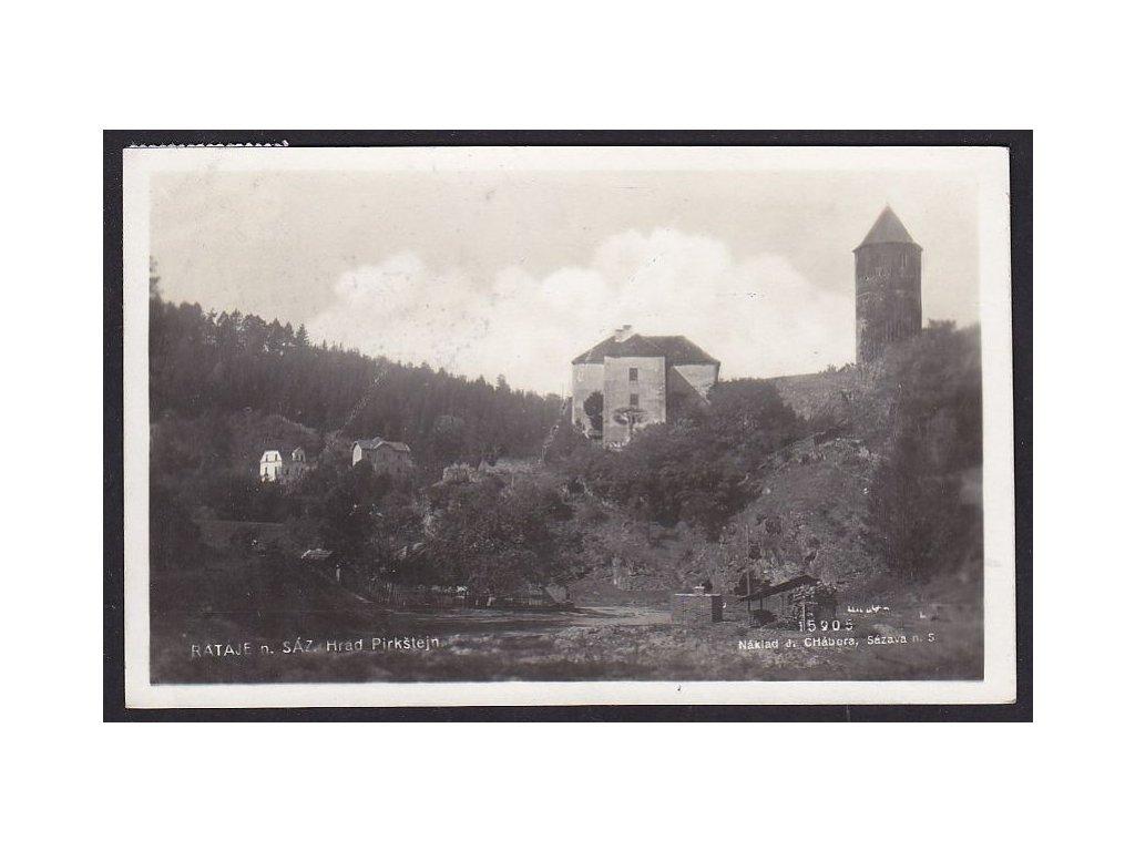 31- Kutnohorsko, Rataje n.S., Pirkštejn, nakl. Chábora, ca 1938