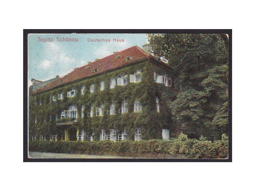 65- Teplice-Šanov (Teplitz-Schönau), Deutches Haus, ca 1919