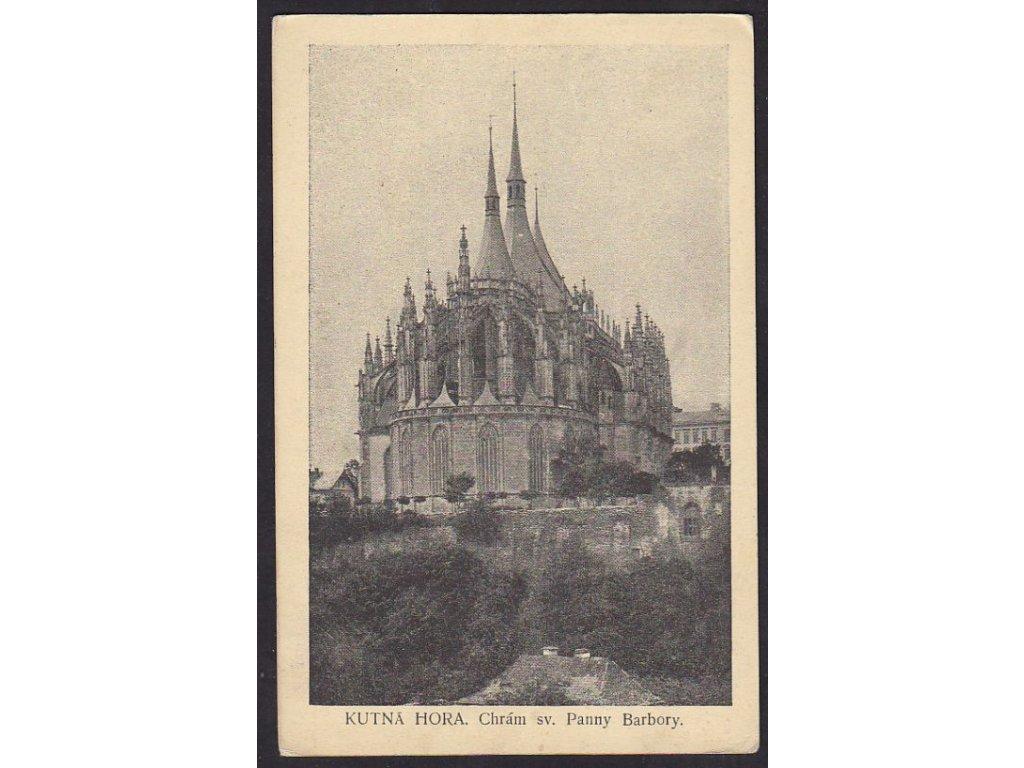 31- Kutná Hora, Chrám sv.P.Barbory, vyd. K.Šulc, ca 1918