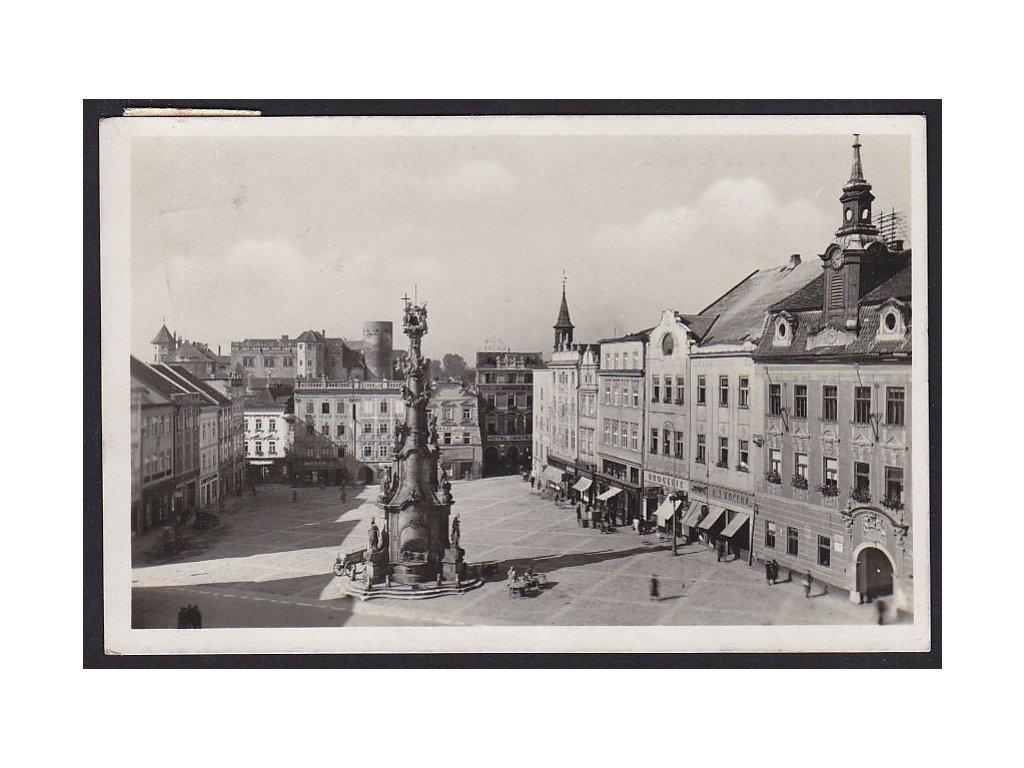 24- Jindřichův Hradec, Wilsonovo náměstí (nám.Míru),Grafo Čuda, ca 1940
