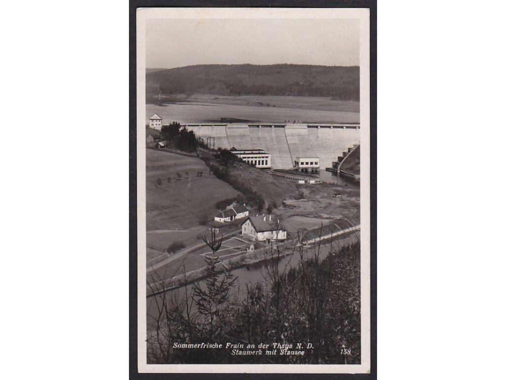 74- Vranov nad Dyjí (Frain an der Thaya), Penzion ( Sommerfrische) pod přehradou, ca 1940