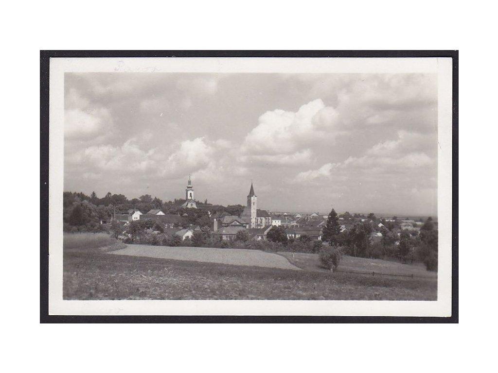 45- Pelhřimovsko, Pacov, celkový pohled, Fototypia, ca 1940