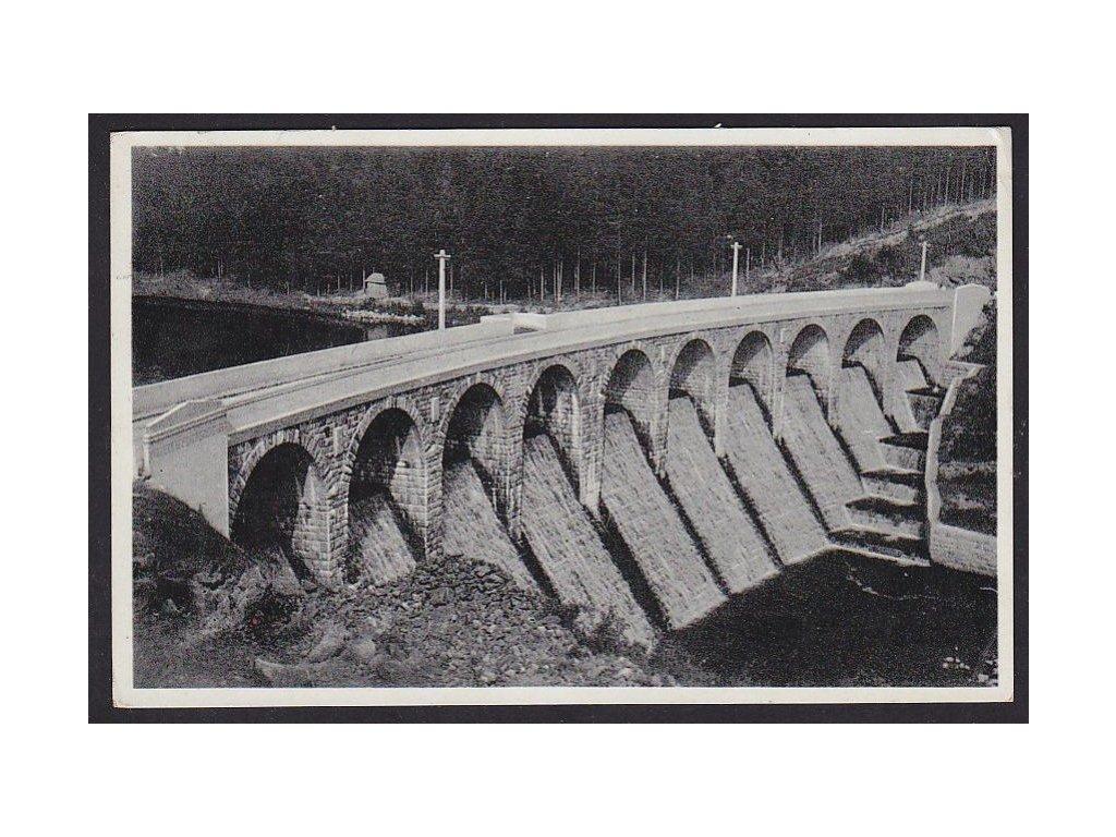 45- Pelhřimovsko, Sedlice, údolní přehrada, ca 1935
