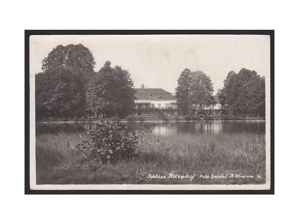 13- Českokrumlovsko, Chvalšiny -zámek Červený Dvůr, foto Seidel, ca 1929