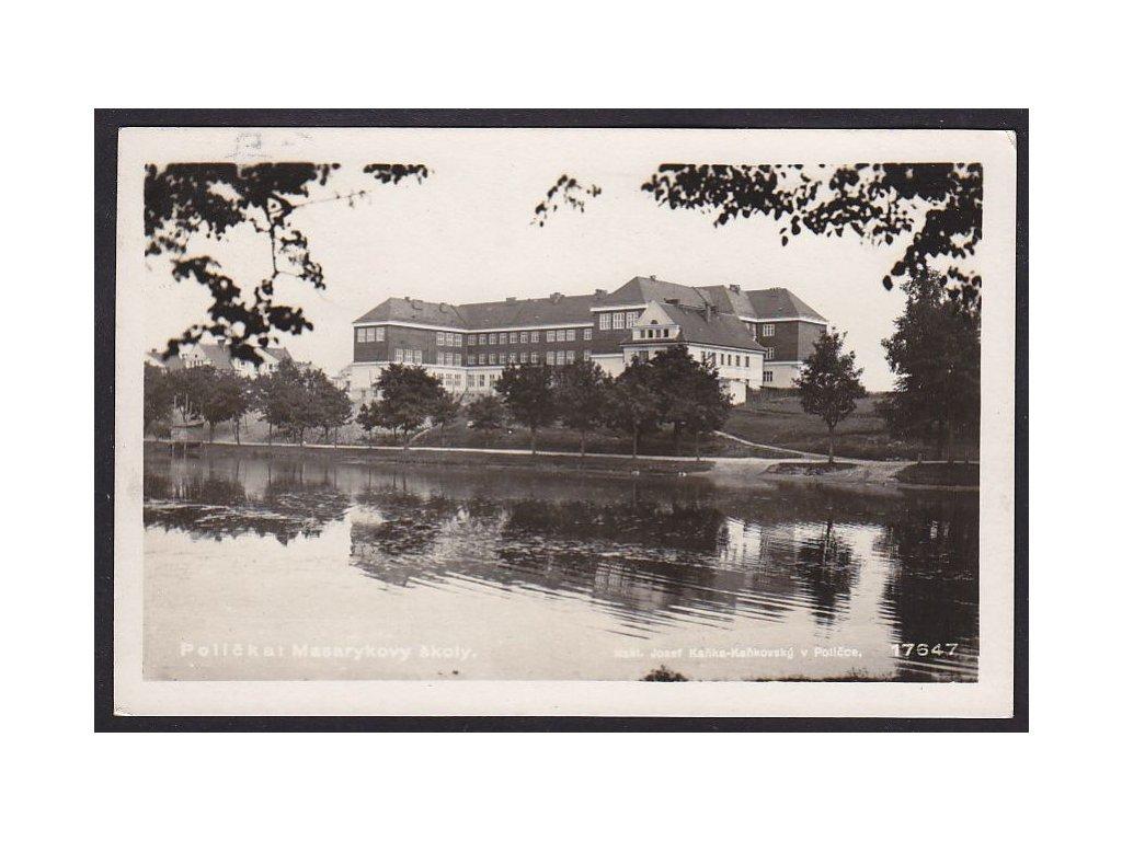 61- Svitavsko,Polička, Masarykova škola, ca 1930