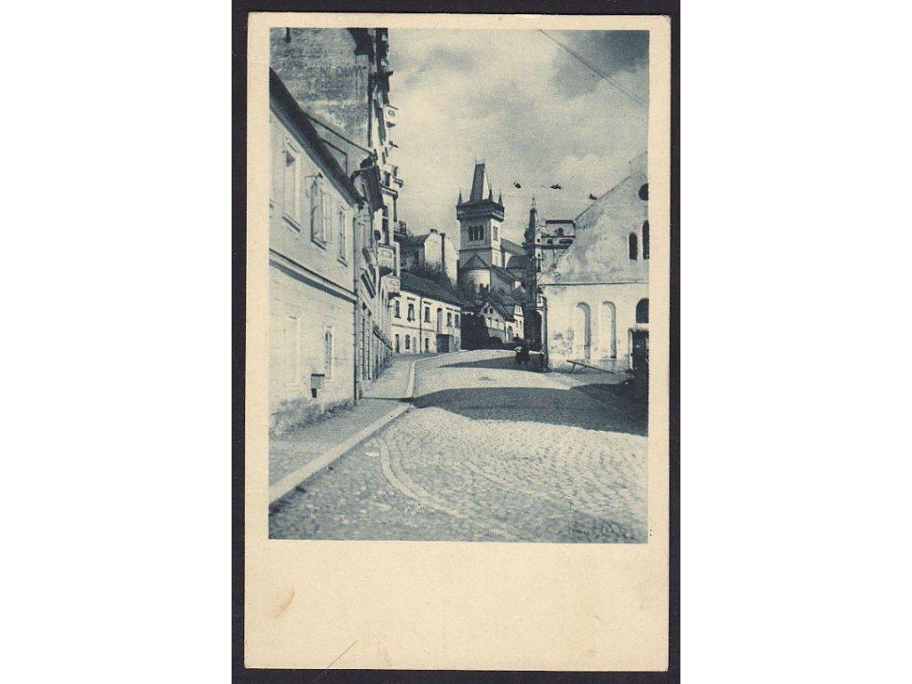 58- Semily, Husova ulice dle snímku učitele Havrdy, , ca 1940