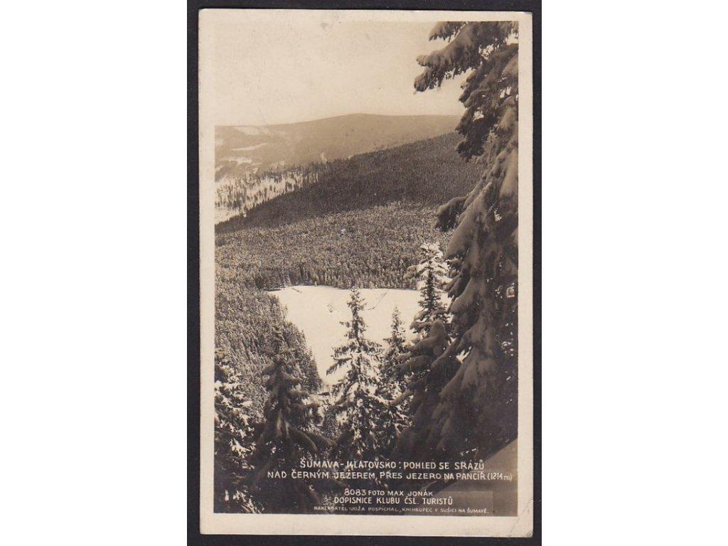 28- Klatovsko, Šumava, Černé jezero, Foto Fon, ca 1930