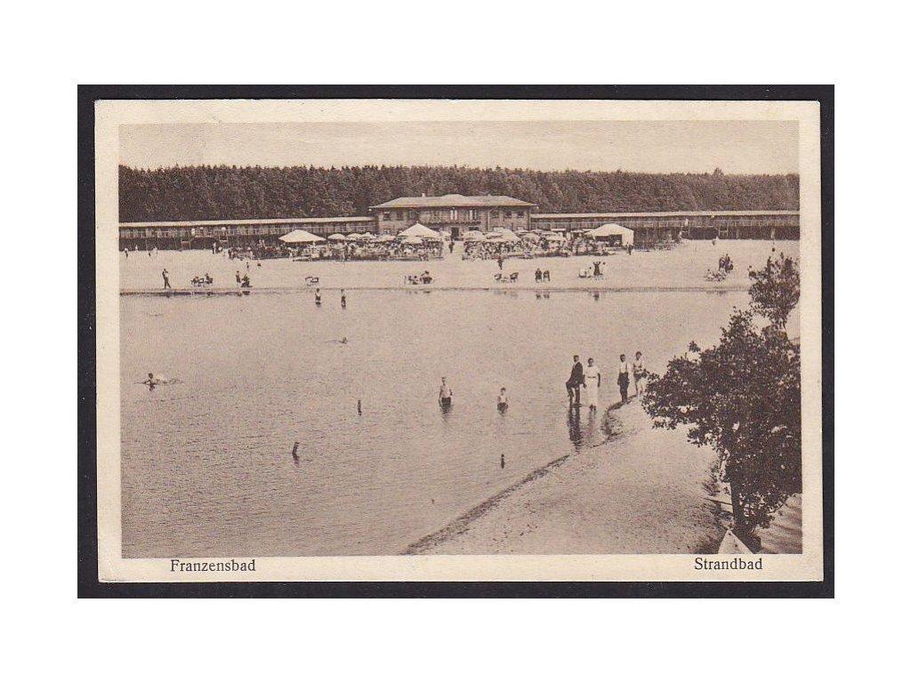 08- Chebsko, Františkovy Lázně, plovárna, ca 1930