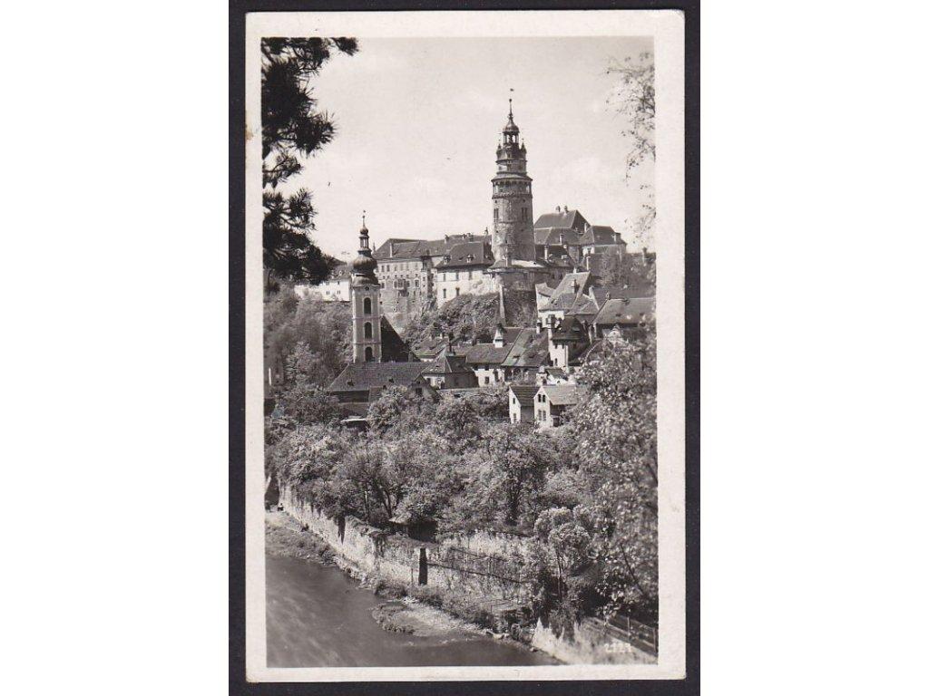 13- Český Krumlov (Krumau), pohled na zámek, Foto Seidel, ca 1936