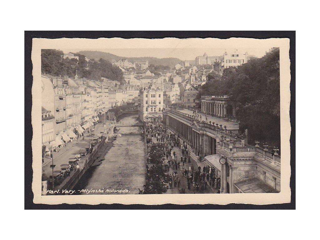 25- Karlovy Vary, Mlýnská kolonáda (Muhlbrunn-Kolonnade), cca 1930