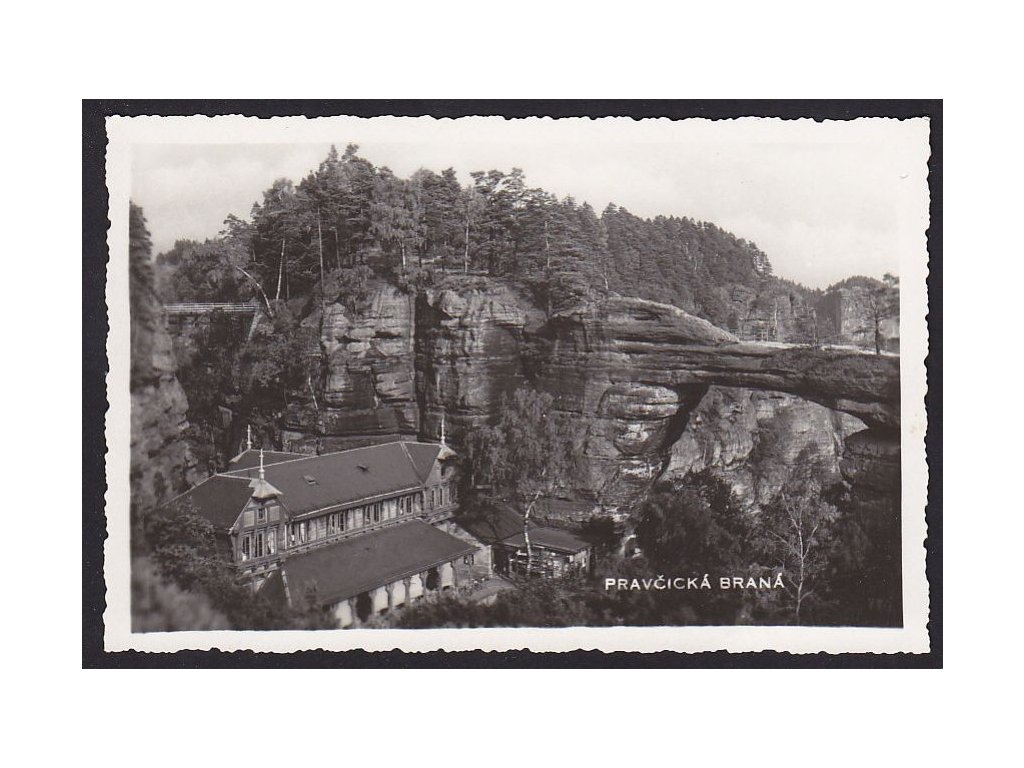 14- Děčínsko, Pravčická brána, ca 1930