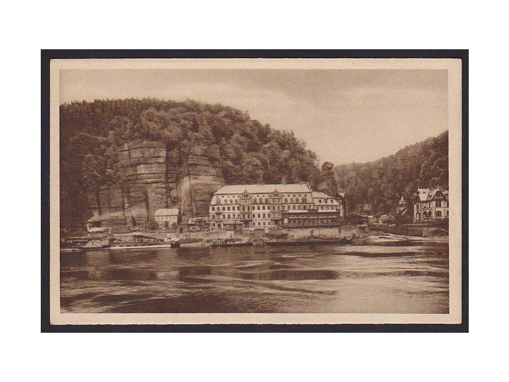 14- Děčínsko, Hřensko, Panský dům, ca 1925