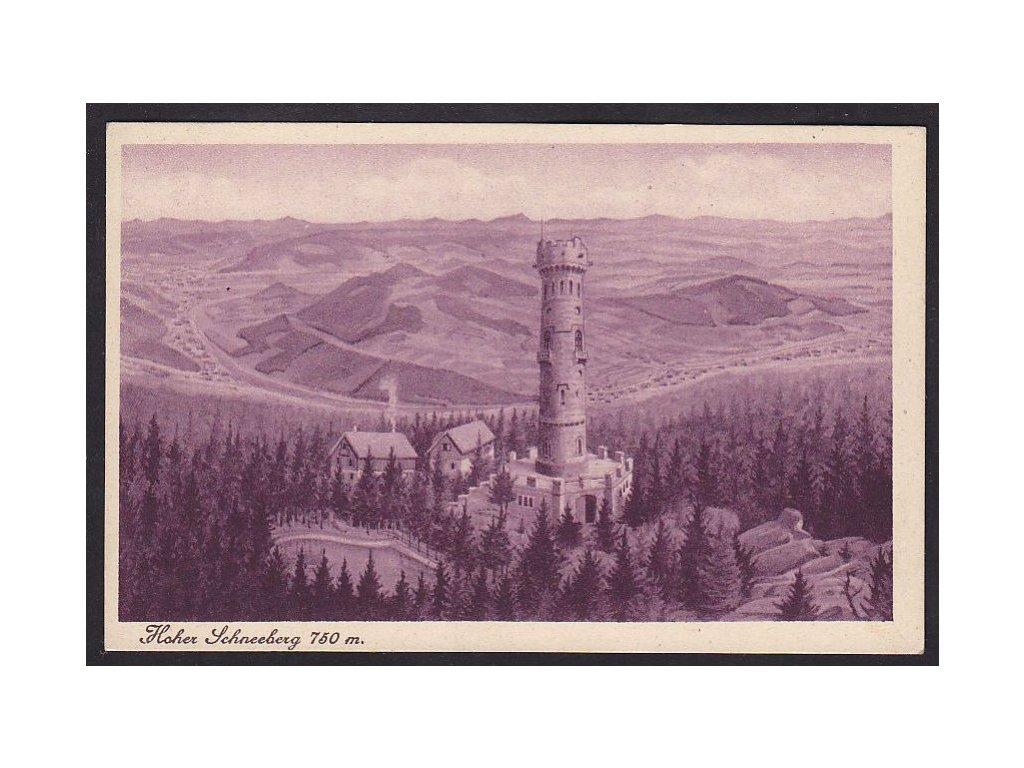14- Děčínsko, Děčínský Sněžník ( Hoher Schneeberg), vyd.J.Kallasch, ca 1929