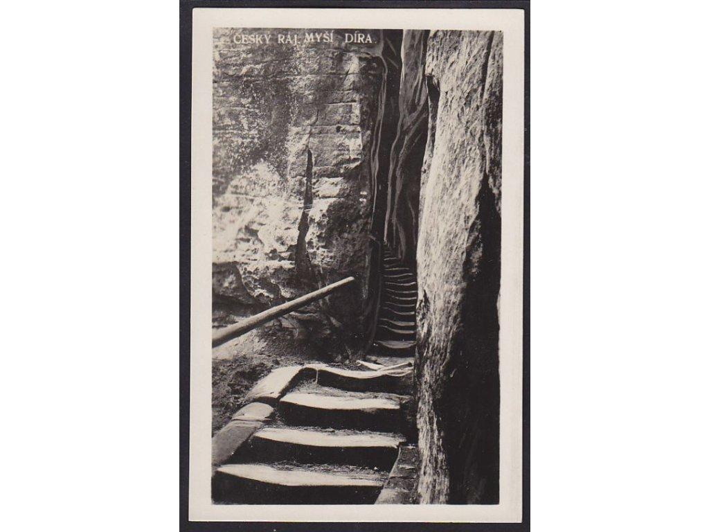 58- Český Ráj, Myší díra, foto K. Hendrych, ca 1930