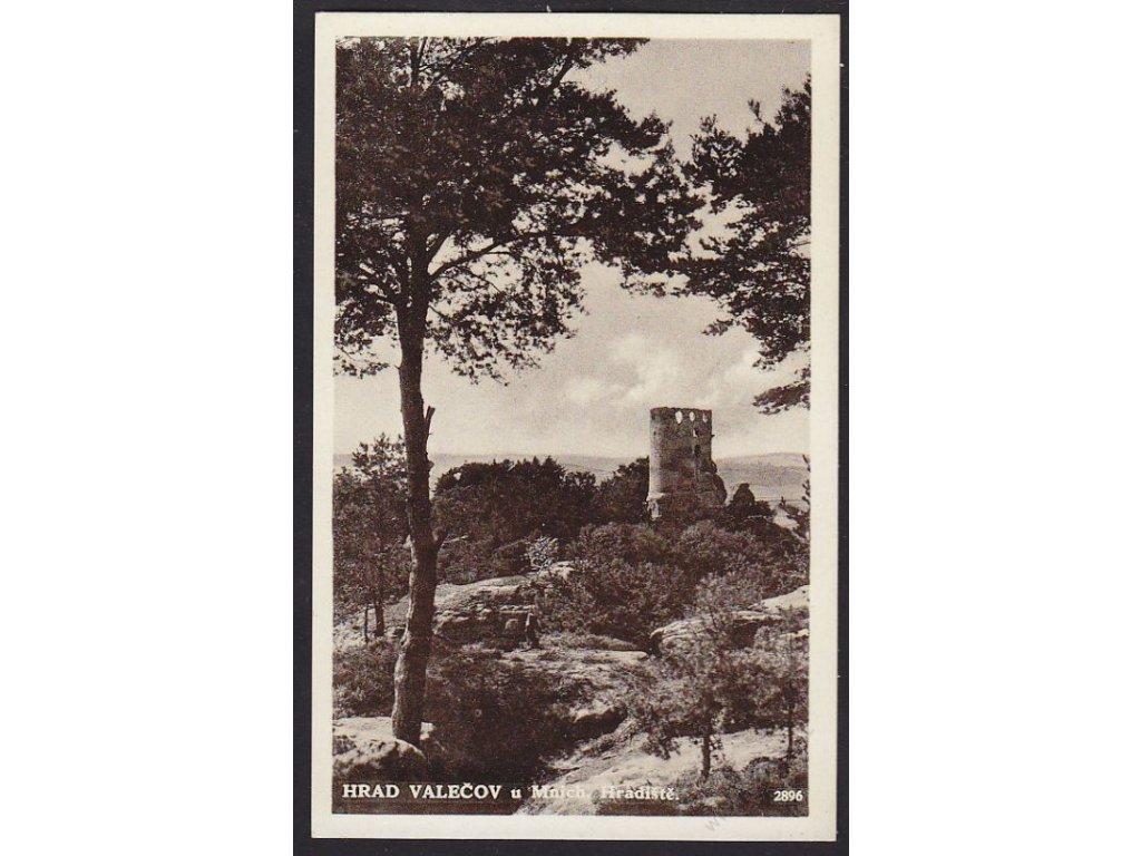 36 - Mladoboleslavsko, hrad Valečov u Mnich. Hradiště, cca 1930