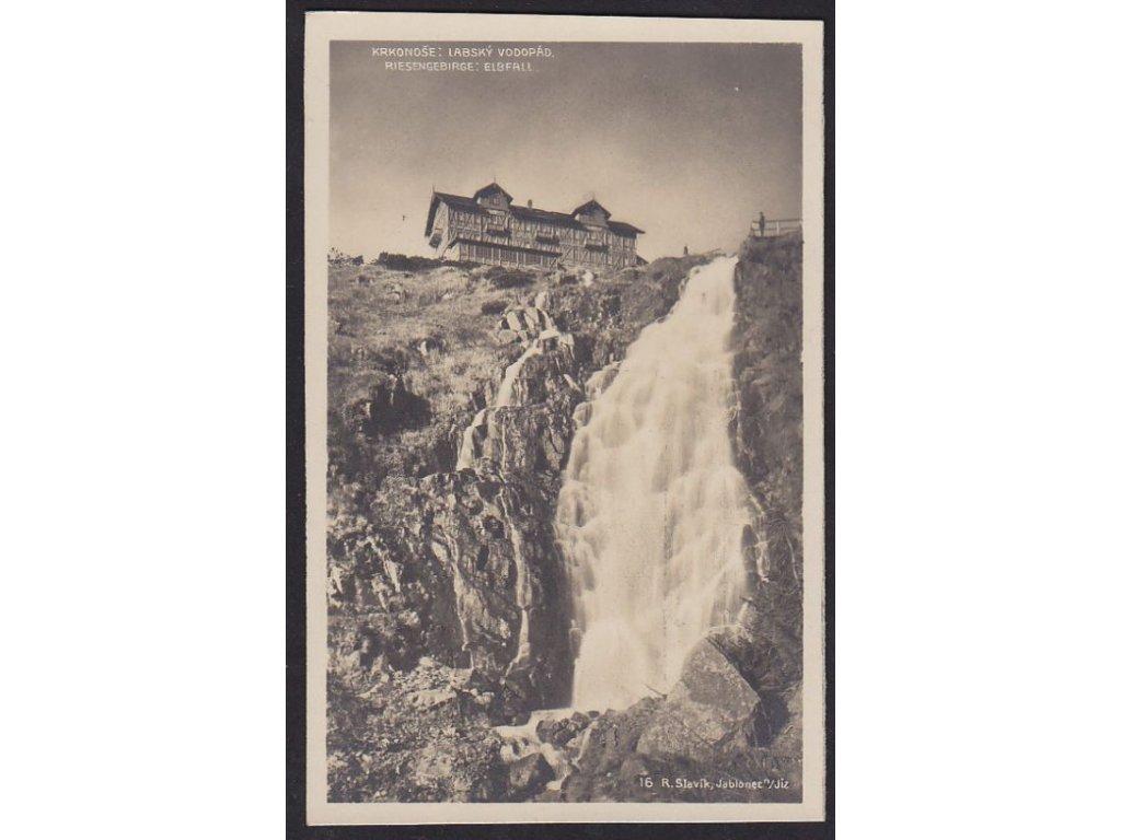 66- Krkonoše, Labský vodopád, Foto Fon, ca 1925