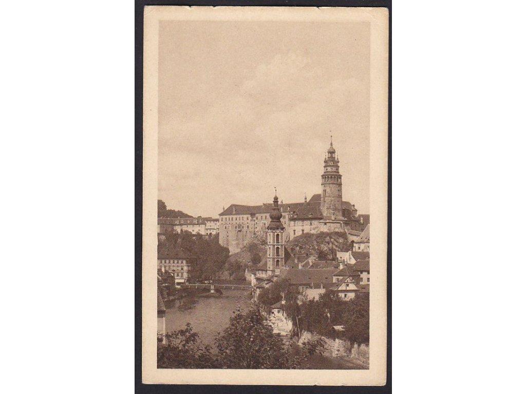 13- Český Krumlov, zámek, ca 1925