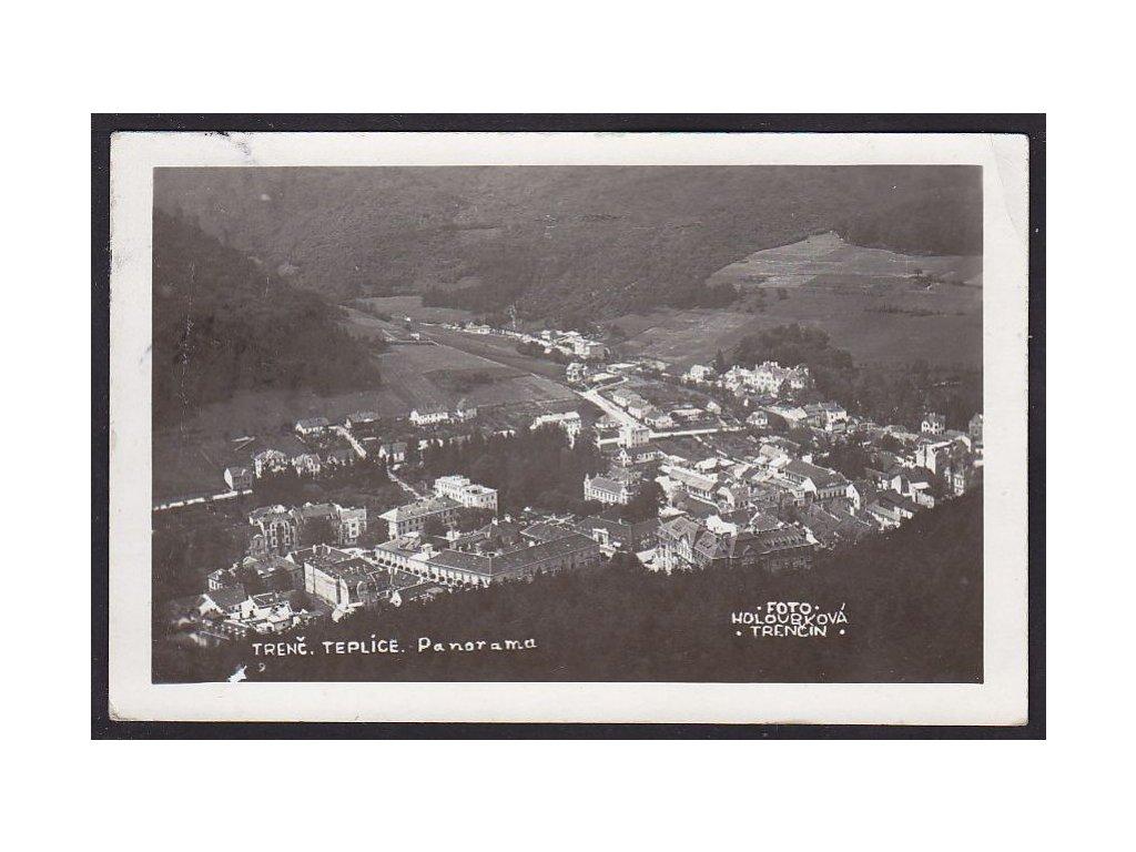 Slovensko, Trenčianské Teplice, foto Holoubková, ca 1935