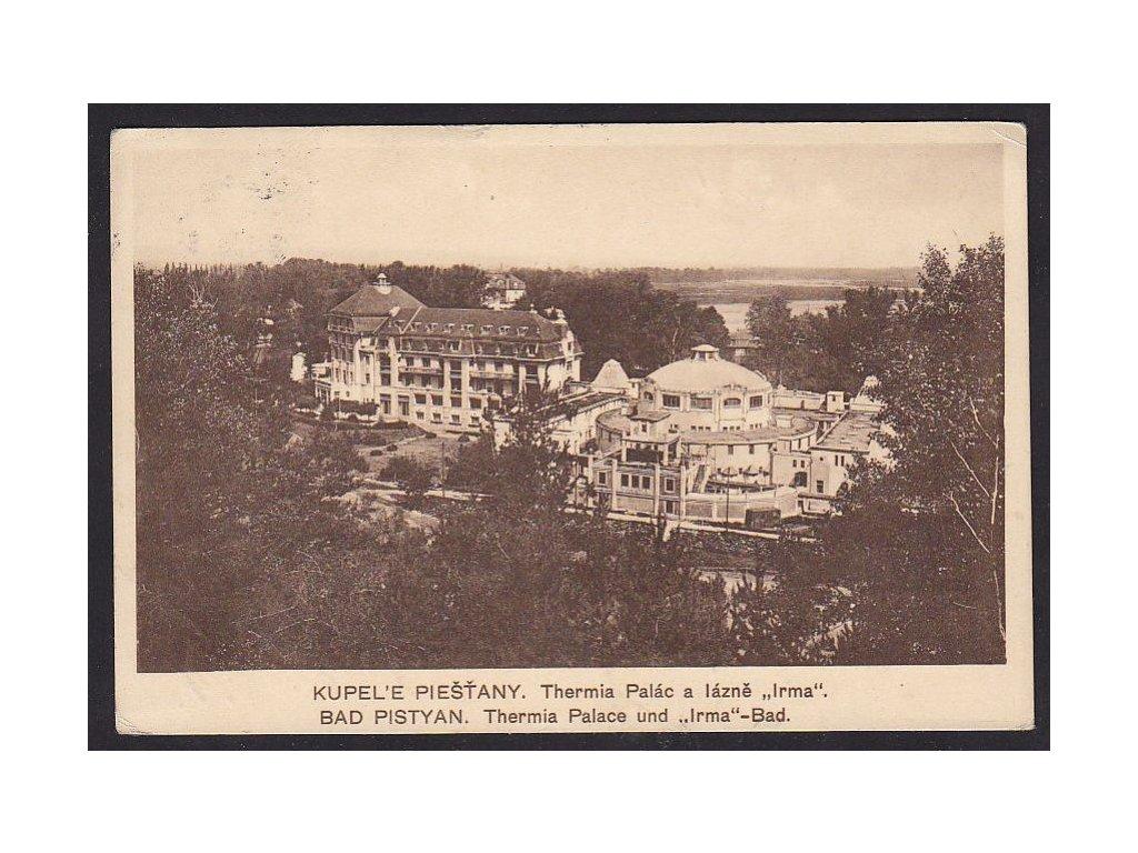 Slovensko, Piešťany, palác Thermia, ca 1928
