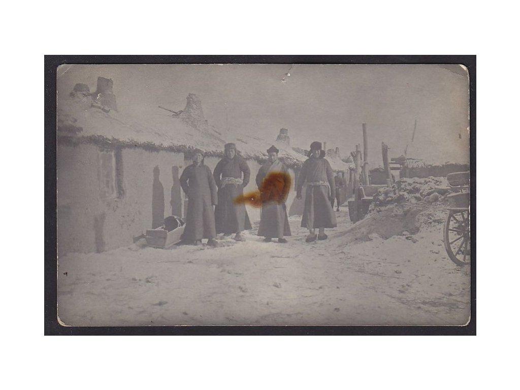 Čína, Charbin ( Cha-er-pin) , pózující Číňané, ca 1900