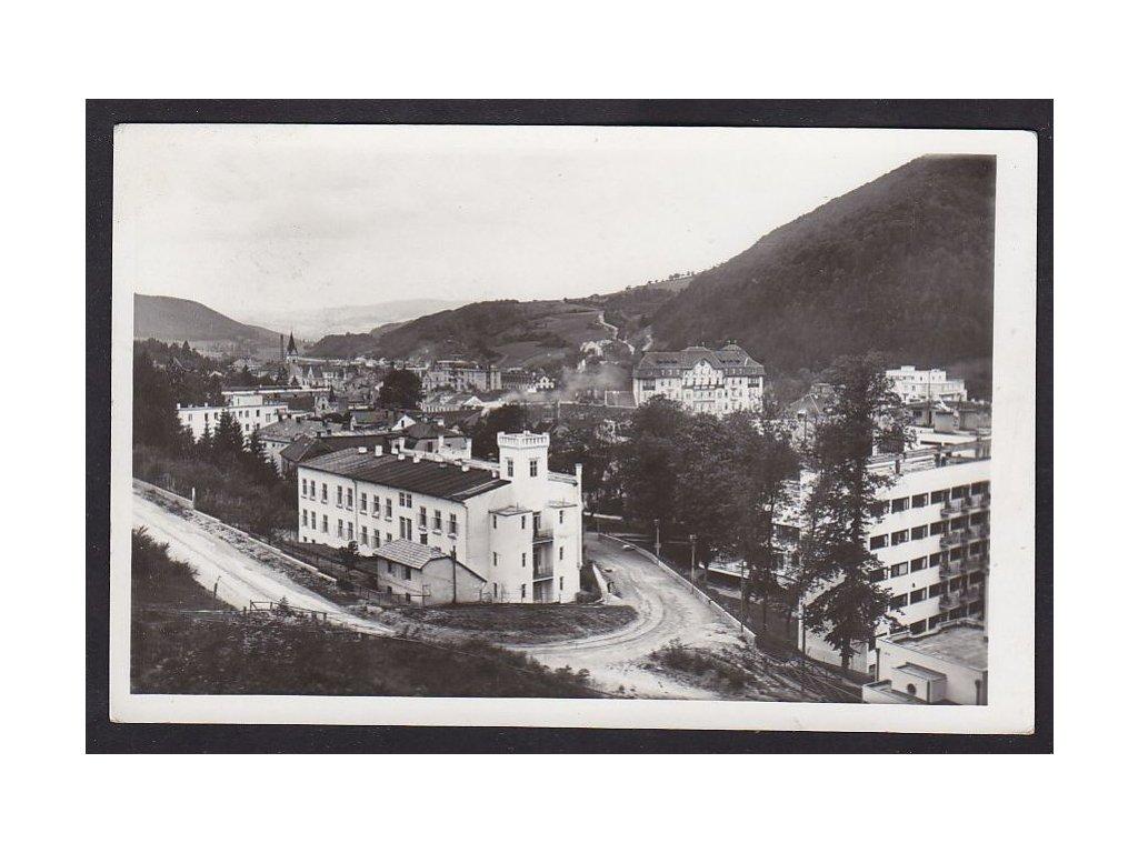 Slovensko, Trenčianské Teplice, panorama, ca 1935
