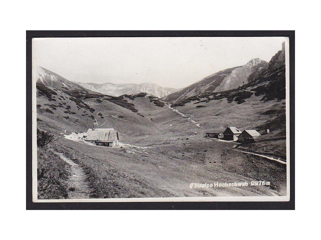 Rakousko, Štýrsko, Hochschwab, ca 1940