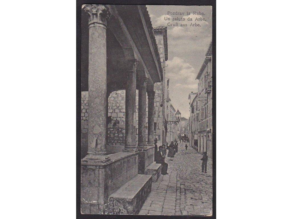 Chorvatsko, Rab (Arbe) ca 1913