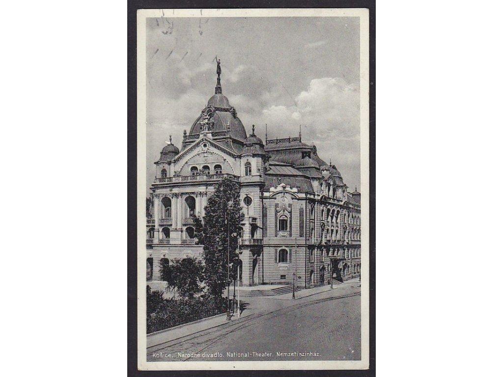 Slovensko, Košice, národní divadlo, ca 1931