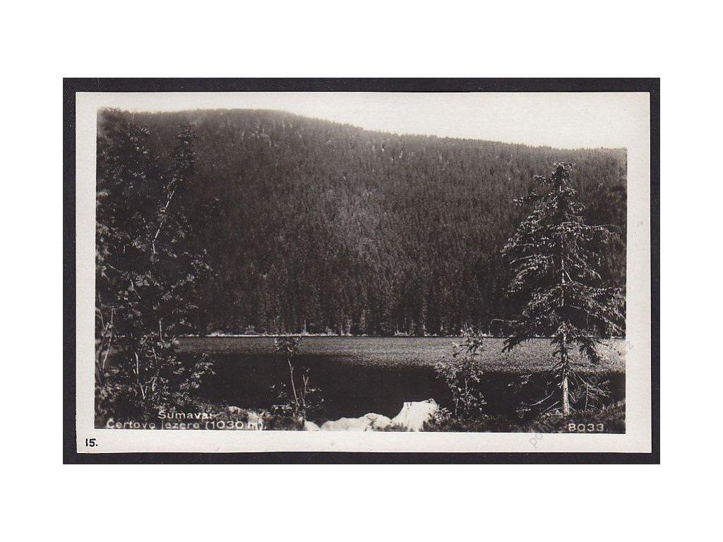 28- Šumava, Čertovo jezero, Foto Fon, ca 1930