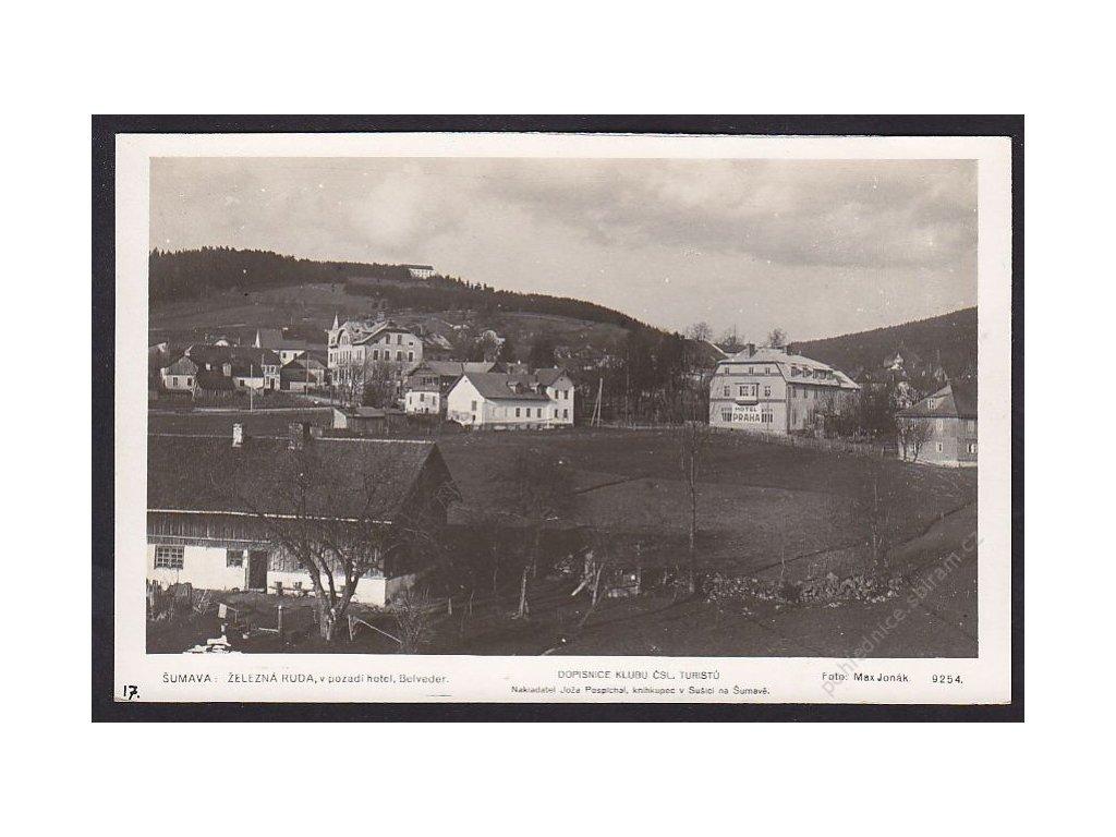 28- Šumava, Železná Ruda, hotel Praha, Foto Fon, ca 1930