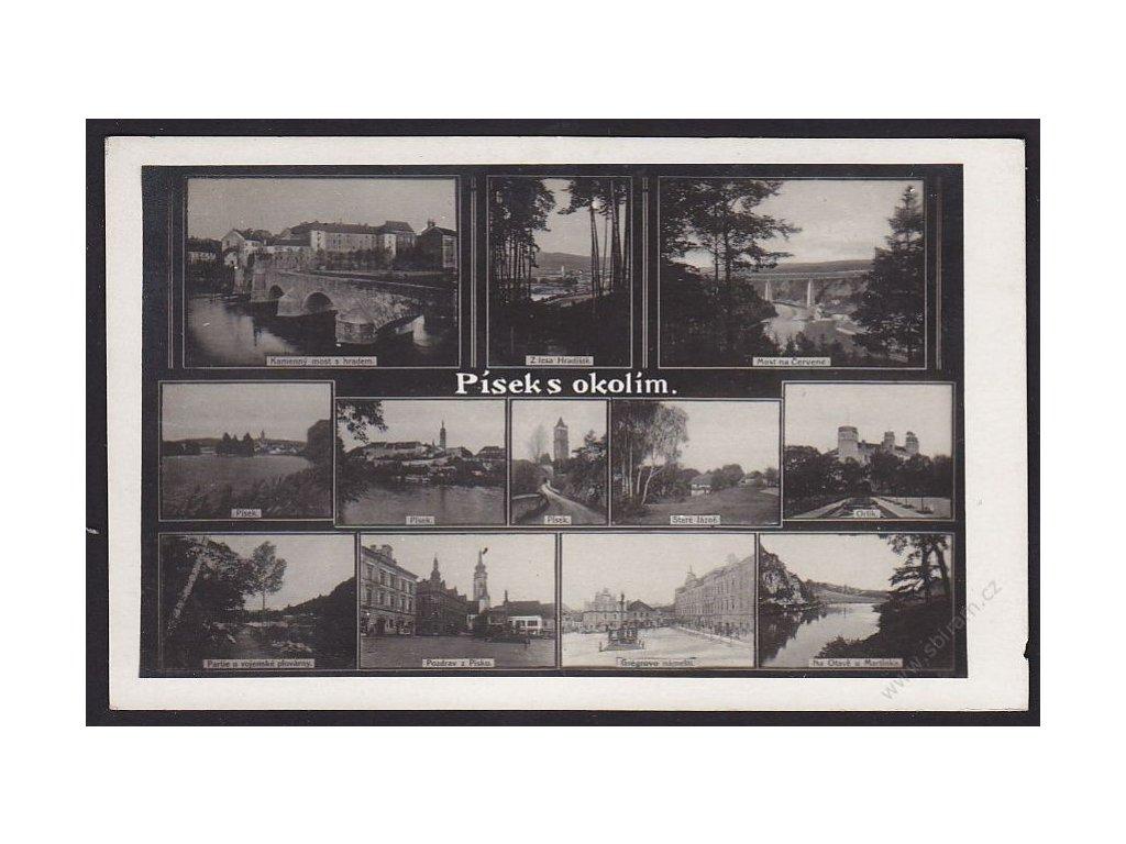 46 - Písek s okolím, foto Fon, cca 1925