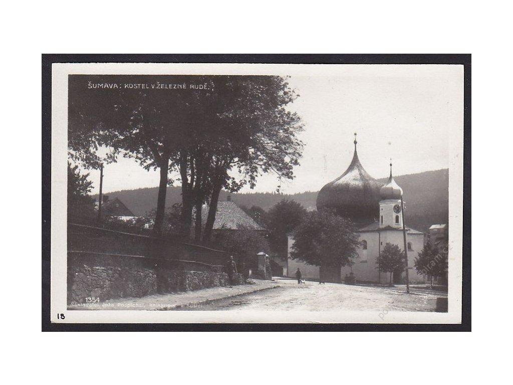 28- Šumava, Železná Ruda, kostel, Foto Fon, ca 1930
