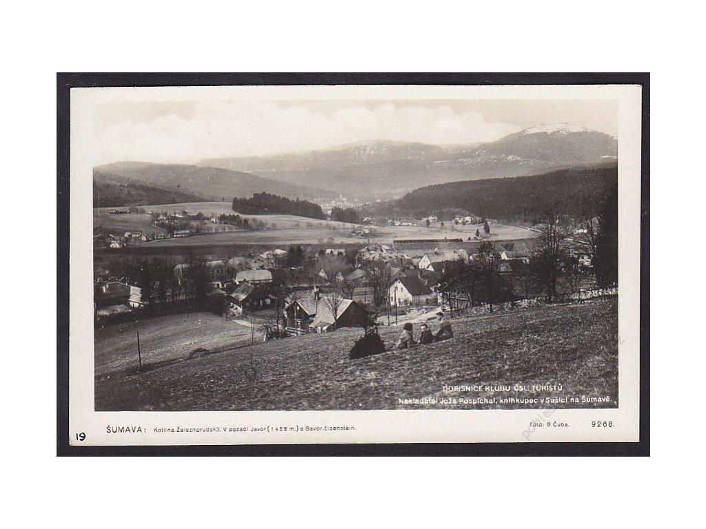 28- Šumava, Železná Ruda, v pozadí Javor, Foto Fon, ca 1929