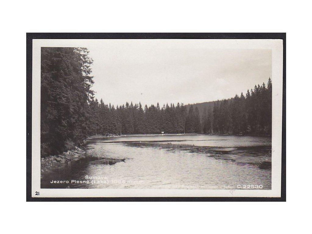 28- Šumava, Jezero Laka, Foto Fon, ca 1930