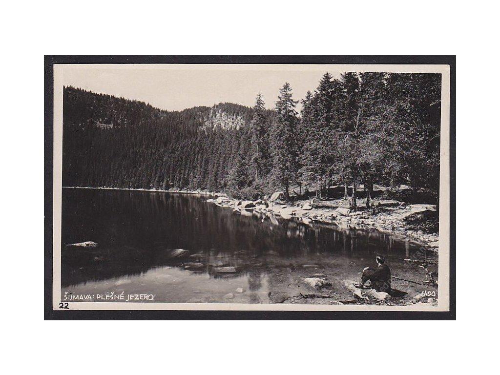 28- Šumava,Plešné jezero,Bromografia, ca 1930