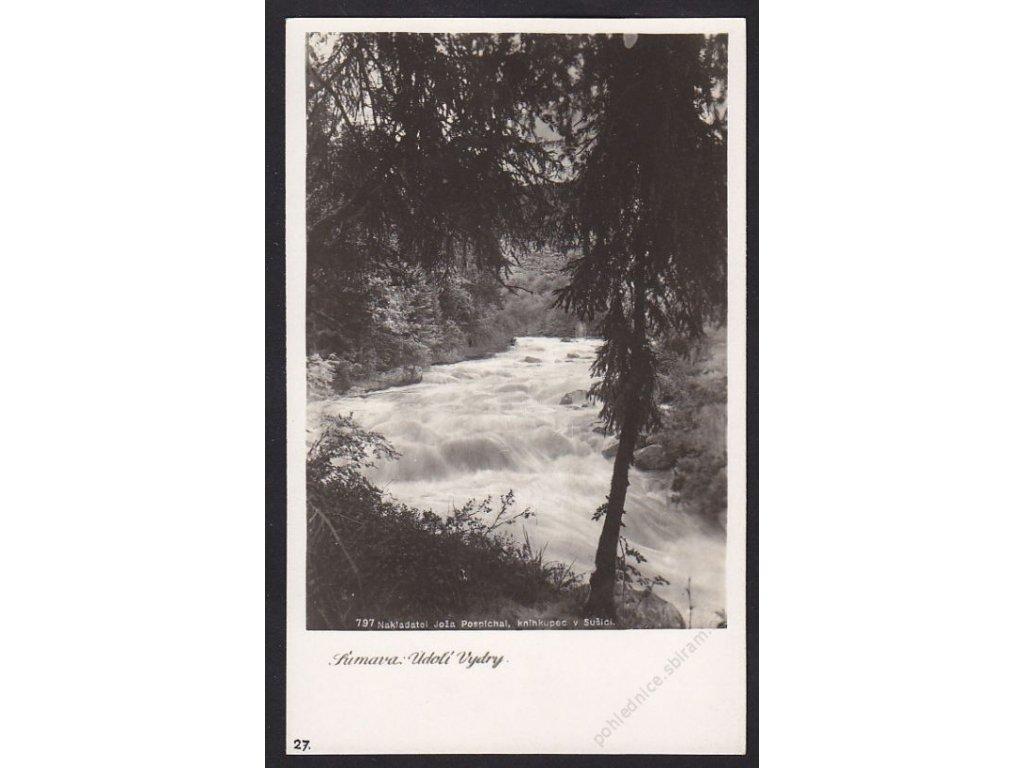 28- Šumava, údolí Vydry, Foto Fon, ca 1930