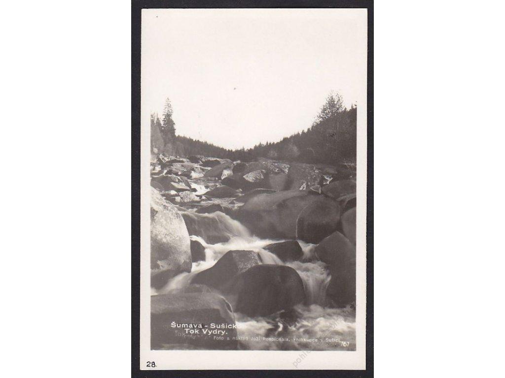 28- Šumava, údolí řeky Vydry, Foto Fon, ca 1930