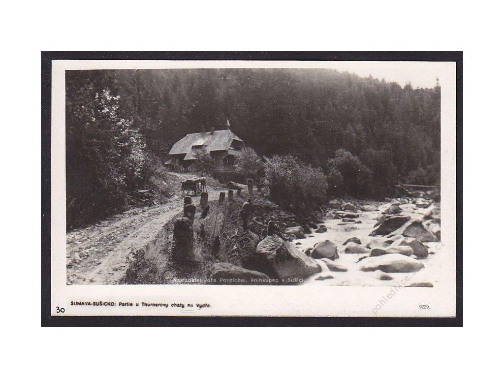 28- Šumava, Thurnerova chata u Vydry, Foto Fon, ca 1930