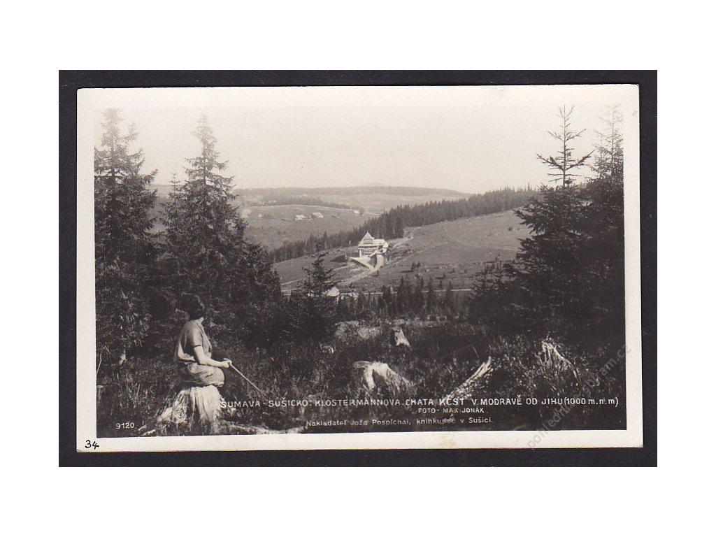 28- Šumava, Klostermanova chata, Modrava, Foto Fon, ca 1930