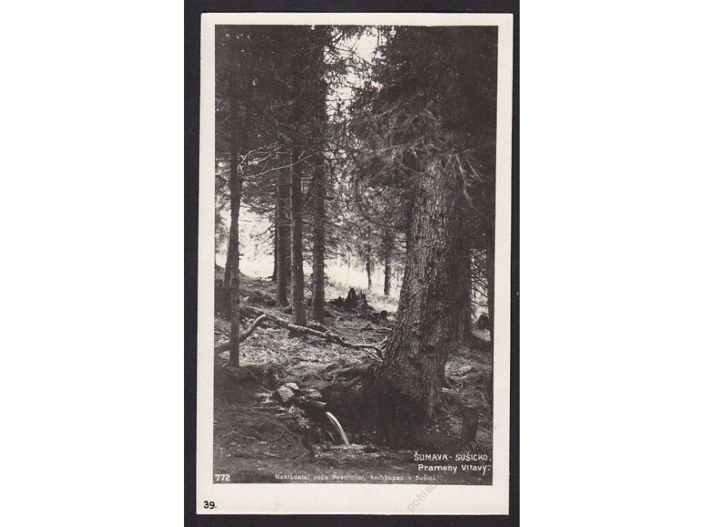 28- Šumava, pramen Vltavy, Foto Fon, ca 1930