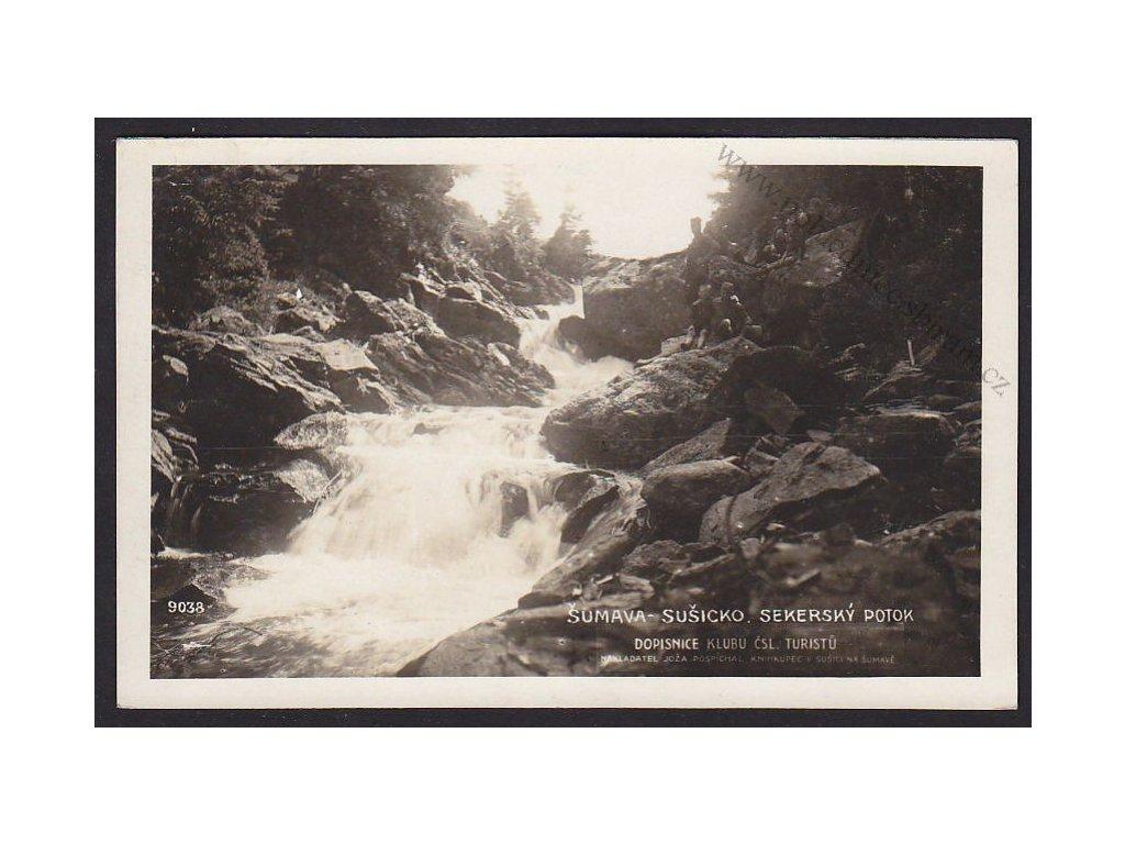 28- Šumava, Sekerský potok, 9038 Foto Fon, ca 1930