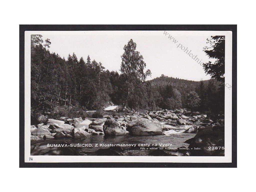 28- Šumava, Z Klostermannovy cesty, Foto Fon, ca 1930
