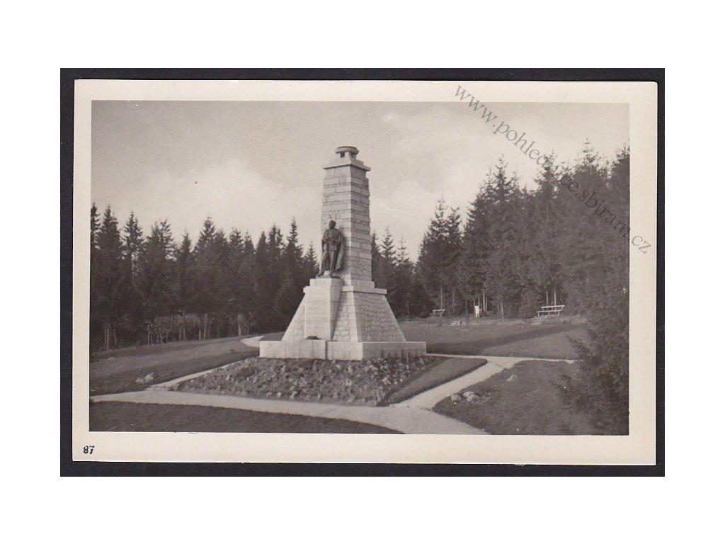 28- Šumava, Pomník J.Š.Baara, ca 1930
