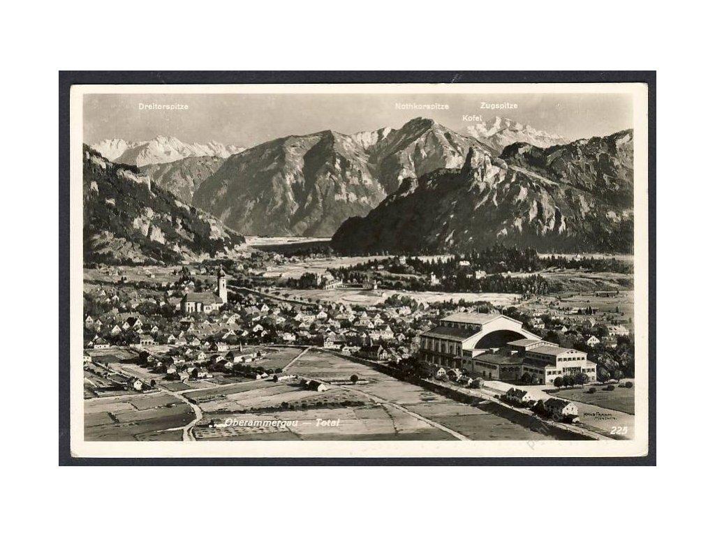 Deutschland, Oberammergau, Total, cca 1934